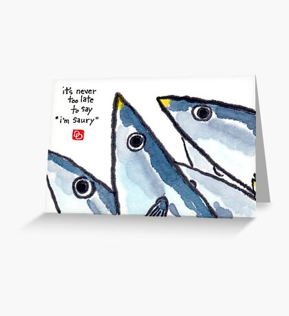 Pacific Saury (North Seas series) Greeting Card