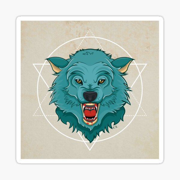 Killer Wolf Sticker