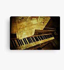 Grungy Piano Canvas Print