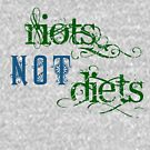 Riots Not Diets (Green and Blue) by incurablehippie