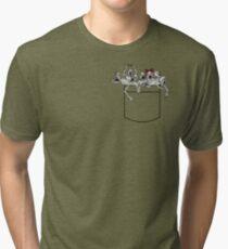 Pocket messengers from Bloodborne  Tri-blend T-Shirt