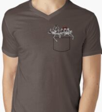 Pocket messengers from Bloodborne  Men's V-Neck T-Shirt