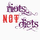 Riots Not Diets (Purple and Red) by incurablehippie