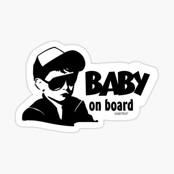 BABY ON BOARD colore sfondo personalizzabile ! Sticker