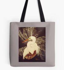 White Egret in Breeding plumage Tote Bag