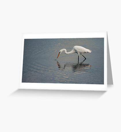 Fisherbird - white egret Greeting Card