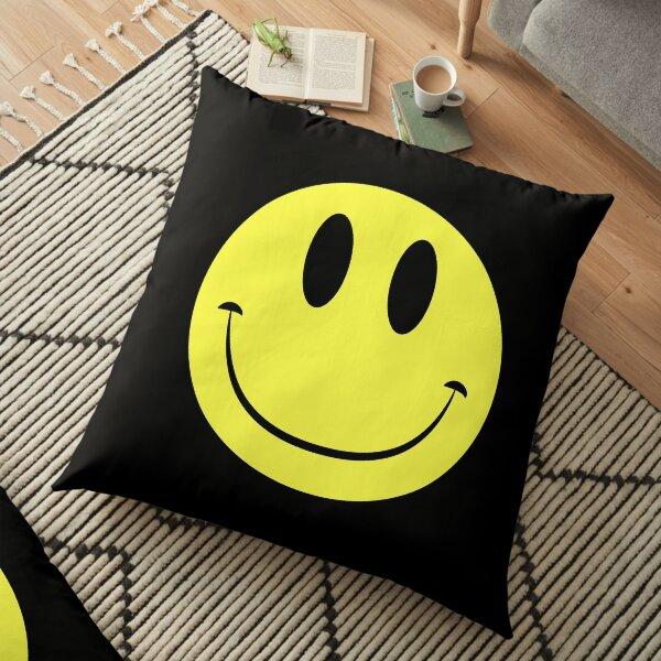 Classic Acid House Smiley Face Rave Culture Floor Pillow