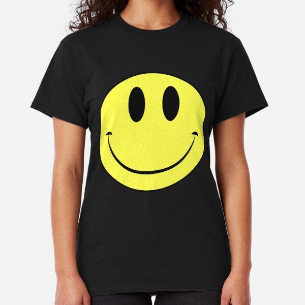 Girls T-Shirt Retro Happy Funny Winking Emoticon Face  Kids Boys