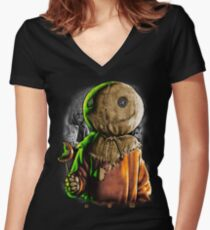 Trick r Treat Women's Fitted V-Neck T-Shirt