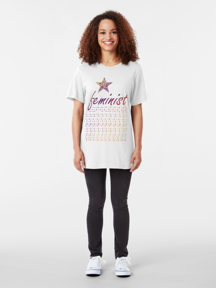 Alternate view of Feminist Star Slim Fit T-Shirt