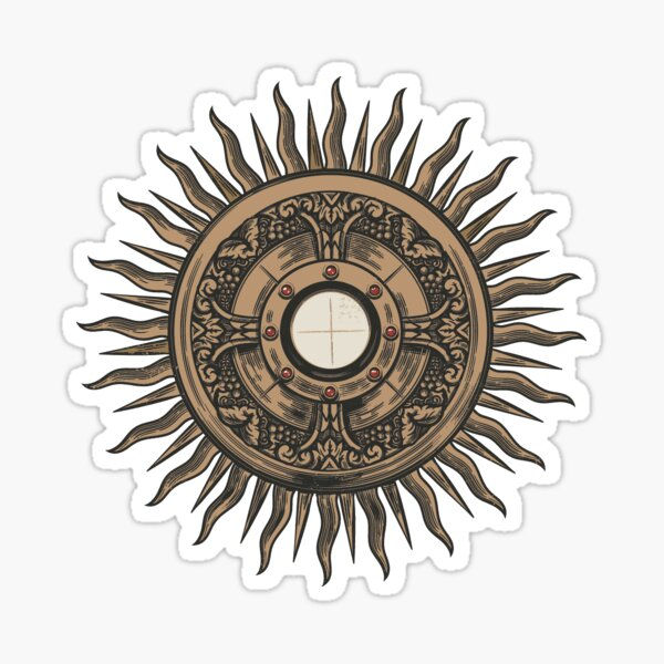 Monstrance with the Blessed Sacrament Sticker