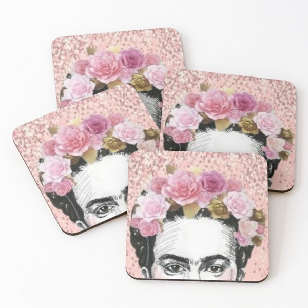 Frida in rose Coasters (Set of 4)
