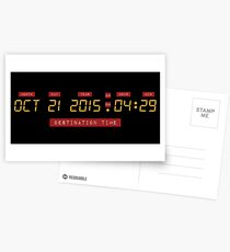 Back to the Future Oct 21, 2015 4:29 DeLorean Numbers Postcards