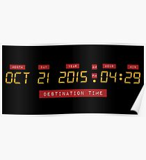 Back to the Future Oct 21, 2015 4:29 DeLorean Numbers Poster