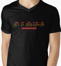 Back to the Future Oct 21, 2015 4:29 DeLorean Numbers Men's V-Neck T-Shirt