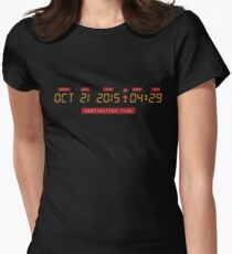 Back to the Future Oct 21, 2015 4:29 DeLorean Numbers Women's Fitted T-Shirt