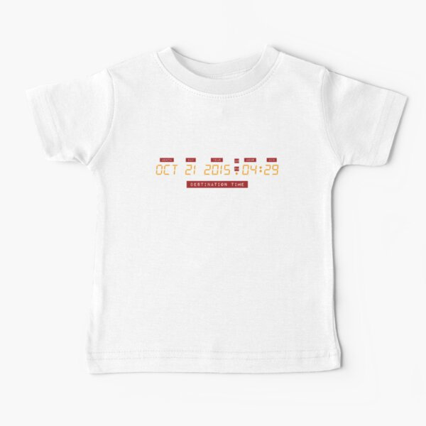 * Licence officielle * Retour vers le futur 21 octobre 2015 4:29 Numéros DeLorean T-shirt bébé