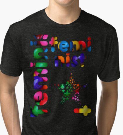 Jelly Bean Feminist Tri-blend T-Shirt