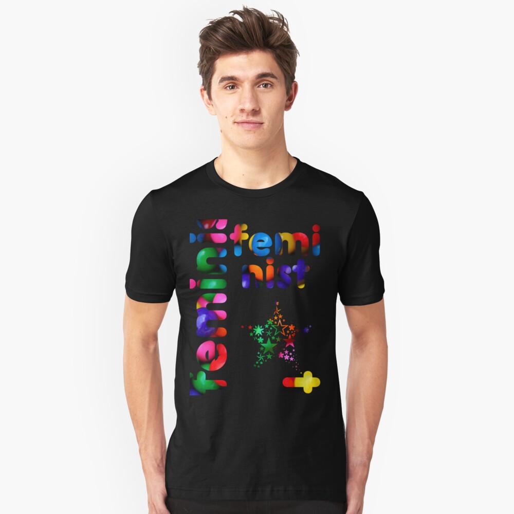 Jelly Bean Feminist Unisex T-Shirt Front