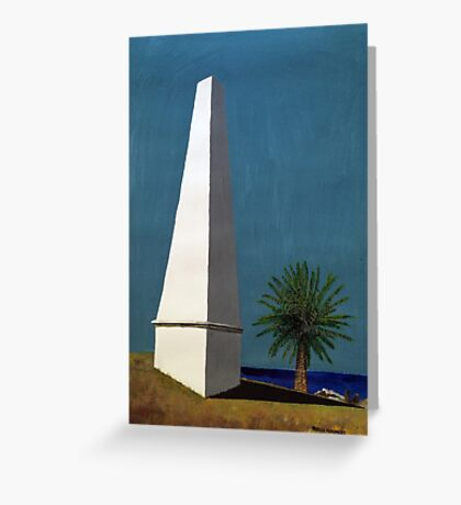 Newcastle Obelisk by Margo Humphries Greeting Card