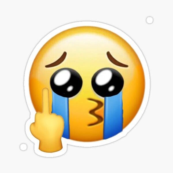 emoji de cara llorando molesto Pegatina