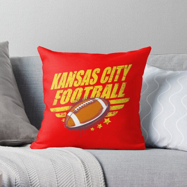 Kansas city football Throw Pillow