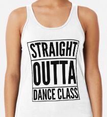 Straight Outta Dance Class (Black on transparent) Women's Tank Top