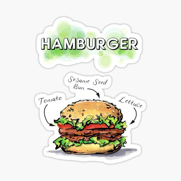HAMBURGER ON A SESAME SEED BUN Sticker
