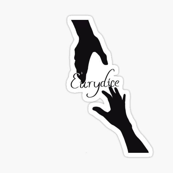 Eurydice Hands Touching Sticker