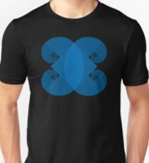 Golden Spiral 4 Arm Pattern - Blue T-Shirt