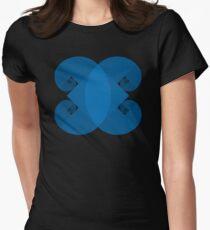 Golden Spiral 4 Arm Pattern - Blue T-Shirt