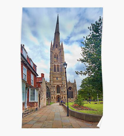 St Wulfram's Church, Grantham. Poster