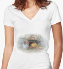 Autumn's Roost Women's Fitted V-Neck T-Shirt