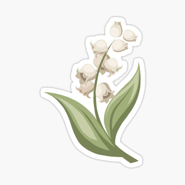 Lily of the Valley vector Sticker