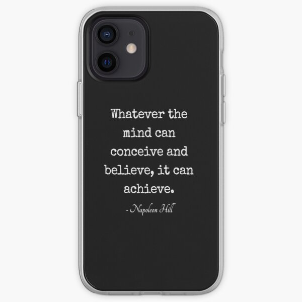Napoleon-Hill Inspirational Motivational Fancy Quote iPhone Soft Case