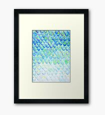 MERMAID SCALES Framed Print