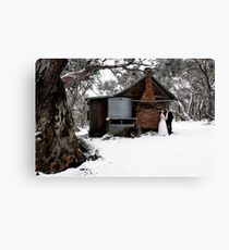 Winter Togetherness Canvas Print