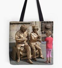 John and Yoko greet child Tote Bag