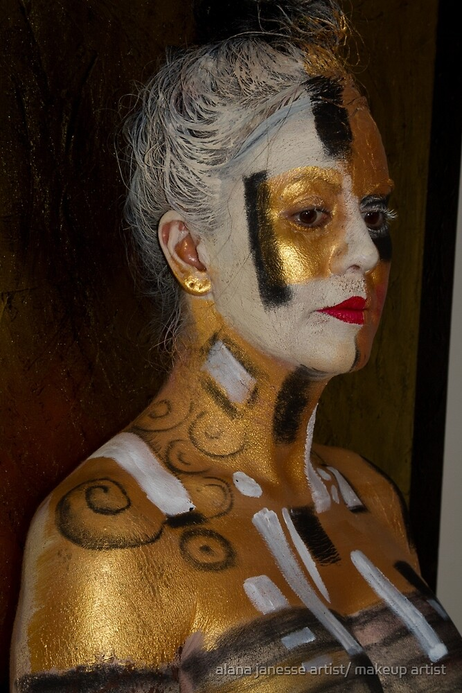Body Art Klimt Girl By Alana Janesse Artist Makeup Artist Redbubble