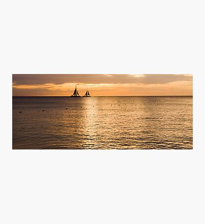 Sails in the Sunset Aruba  Photographic Print