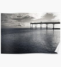 Couple on the Pier Poster