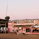 Pink Roadhouse, Oodnadatta by buildings