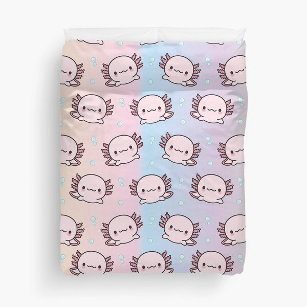 Cute Axolotl Duvet Cover