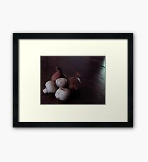 French Shallots and Mushrooms Framed Print