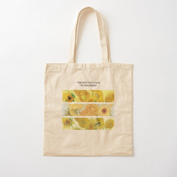 Los girasoles de Van Gogh Bolsa de algodón
