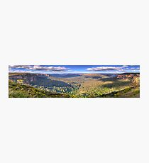 Shadows & Light - Govetts Leap, Blue Mountains, Sydney (30 Exposure HDR Panorama) - The HDR Experience Photographic Print