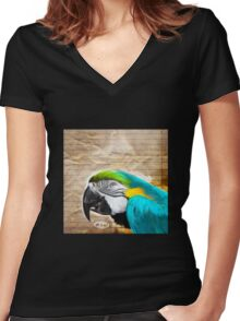 Bird Notes: Zeal! Women's Fitted V-Neck T-Shirt