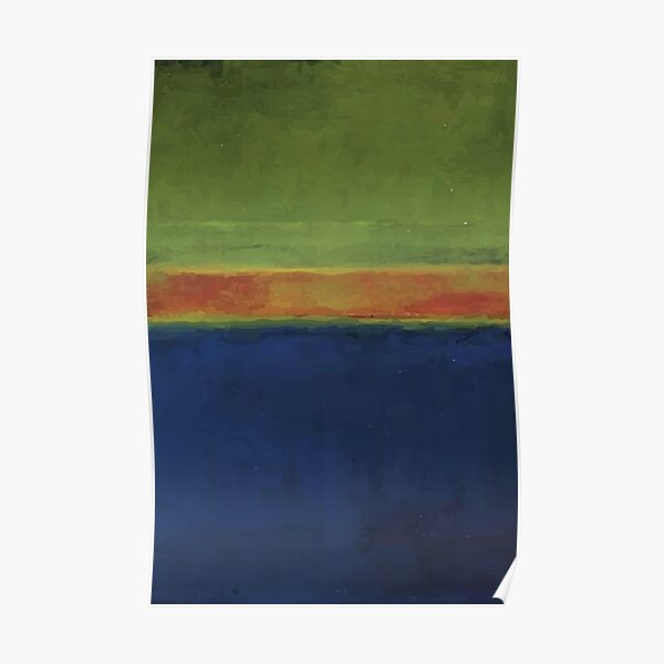 Mark Rothko | No. 2, Green, Red and Blue Poster