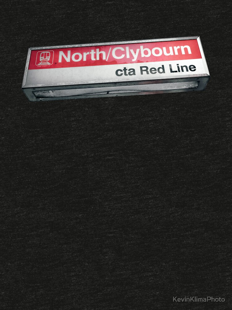 North and Clyborn CTA Red Line Station Sign by KevinKlimaPhoto
