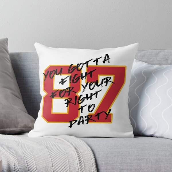 Kelce Party Shirt Throw Pillow